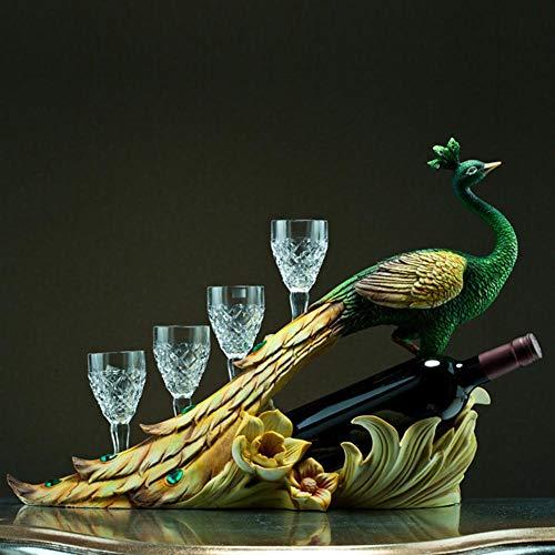 Kreative Weinregal, Pfau Schmuck Weinregal, geeignet für Küche Restaurant Bar Home Interior Style Kreatives Geschenk -