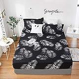 PENVEAT 1 stücke 100% Polyester Druck Bett matratze Set mit Vier Ecken und Gummiband blätter heißer, yeyu, 140X200X25 cm