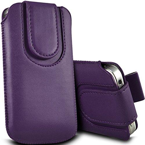Digi Pig–Apple Iphone 5S Colore resistente Pull Tab Pouch con chiusura magnetica scuro viola