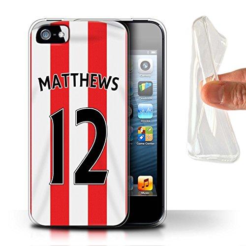 Offiziell Sunderland AFC Hülle / Gel TPU Case für Apple iPhone 5/5S / Pack 24pcs Muster / SAFC Trikot Home 15/16 Kollektion Matthews