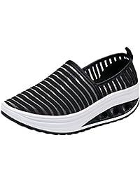 Mujer Zapatos casual estilo urbano,❤️ Sonnena Zapatos deportivos para mujeres Zapatos deportivos ocasionales Zapatos de batín de malla para dama Zapatillas de deporte de fondo plano