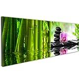 murando - Bilder 135x45 cm - Leinwandbilder - Fertig Aufgespannt - Vlies Leinwand - 1 Teilig - Wandbilder XXL - Kunstdrucke - Wandbild - Blumen Natur Feng Shui 030210-115