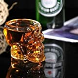Uchic 1PCS creativi creative Skull tazza in vetro trasparente Skull Vodka spiriti coppa vetro New Crystal Skull Cup Home bere Ware Man Gift