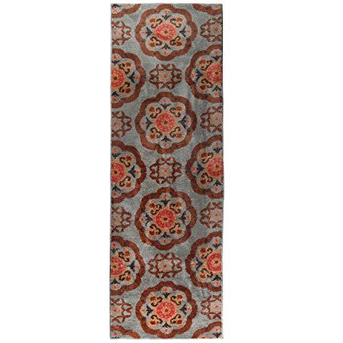 Arkwright Künstlerischer Akzentteppich - Mikrofaser-Weiche Flächen-Teppiche, zeitgenössische und Klassische Designs, lebendige Farben, Rutschfeste Latexunterseite, 61 x 183 cm 2 x 6 ft. Suzzani (Rag Teppiche 4 X 6)