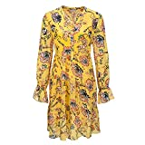 FROGBOX Boho Chic Kleid Indian Flower senf - 34