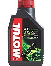 Motul 3100 4T Gold 20W50 API SM Semi Synthetic Engine Oil for Bikes (1.15 L)