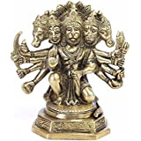 [Sponsored]ART SWAG Brass Statue / Idol Of Sitting Panchmukhi Hanuman For Blessing , Happiness , Health , Wealth At Home & Office , Handcrafted With Antique Look/ Diwali Gift Product Dimensions (LxBxH - 7 X 4 X 7) Inches