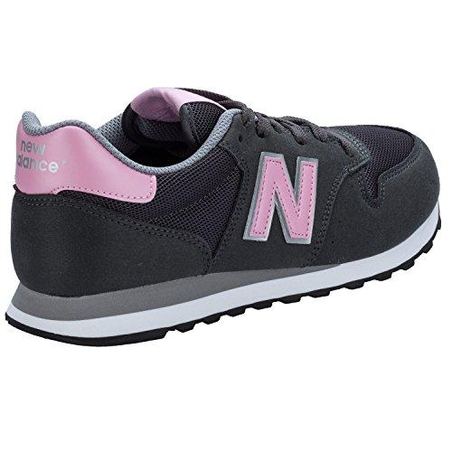 New Balance Damen 500 Sneakers grau - rosa - weiß