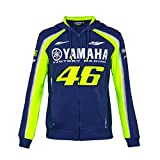 2018 Vr46 Valentino Rossi # 46 MotoGP Zull Zip Hoody Sweat à Capuche Yamaha Factory Racing, Bleu, Mens (XL) 118cm/46 inch Chest