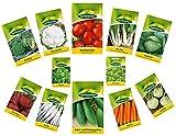 12 Sorten | Gemüsesamen Sortiment | für Anfänger geeignet | robuste Mischung | ab sofort Winter Aktionspreis