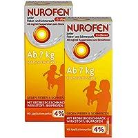 Nurofen Junior Fieber- und Schmerzsaft Erdbeer 40mg pro ml 2 x 100 ml preisvergleich bei billige-tabletten.eu