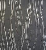 Glitzer Tapete Shimmer Strukturierte Moderne Linien Streifen schwarz grau silber