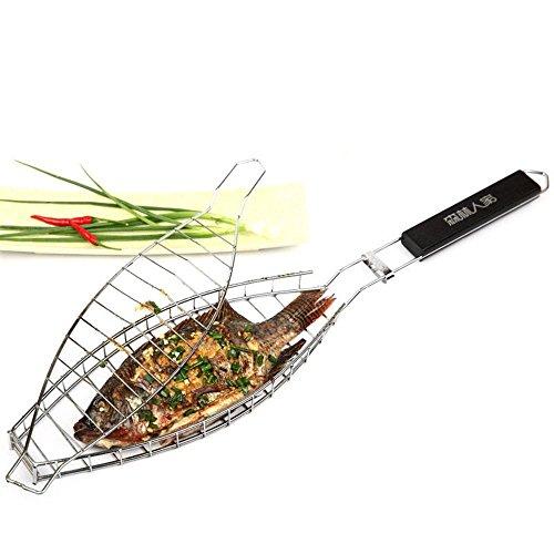 Dickes Edelstahldrahtgeflechte Fischgrip Grillraster Grillgeräte Spezielle gebratene Netze BBQ Westwerkzeuge
