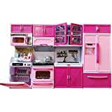 AKSH Dream House Kitchen Set Kids Luxury Battery Operated Kitchen Super Set Toy With Light And Sound Carry Case (KITCHEN4PC)