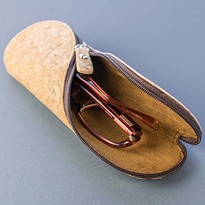 51e65dPFXUL. SS416  - Estuche de gafas delgadas, estuche de lápices y cartuchera ~ Estuche suave de corcho portugués, estilo vintage, hecho a mano