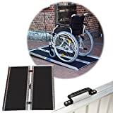 TRUTZHOLM Rollstuhlrampe 152 cm mit Friktionsbeschichtung, 272 Kg, klappbar Alu Auffahrrampe Rollstuhl Rampe Aluminium