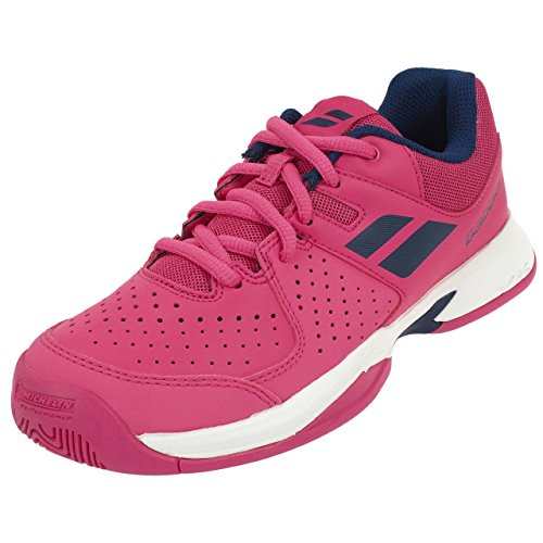 Babolat Bambini Pulsion All Court Junior Scarpe Da Tennis Scarpa Per Tutte Le Superfici Rosa - Blu Scuro 37
