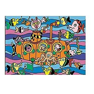 """Colorvelvet 37x 28cm """"submarino sistema de dibujo para colorear (tamaño mediano, multicolor) , Modelos/colores Surtidos, 1 Unidad"""