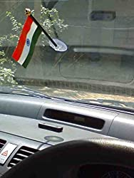 The Flag Company Indian Car Flag with Vacuum Base (Length: 5 inches)