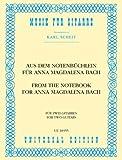 Aus dem Notenbuechlein Fuer Anna Magdalena Bach. Gitarre