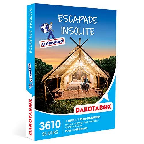 DAKOTABOX - Escapade insolite - Coffret Cadeau Séjour - 1 nuit insolite avec...
