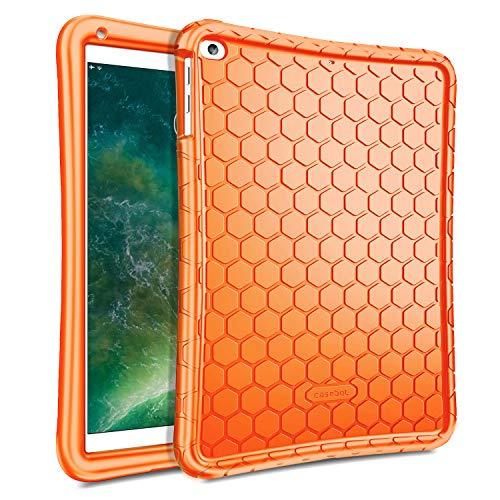Fintie Nuovo iPad 2018 2017 9.7 Pollici, iPad Air 2, iPad Air Custodia - [Serie Honey Comb] Leggera Case Protettiva Antiurto in Silicone Cover per Apple iPad 9,7 2018 2017, iPad Air 1 2, Arancio