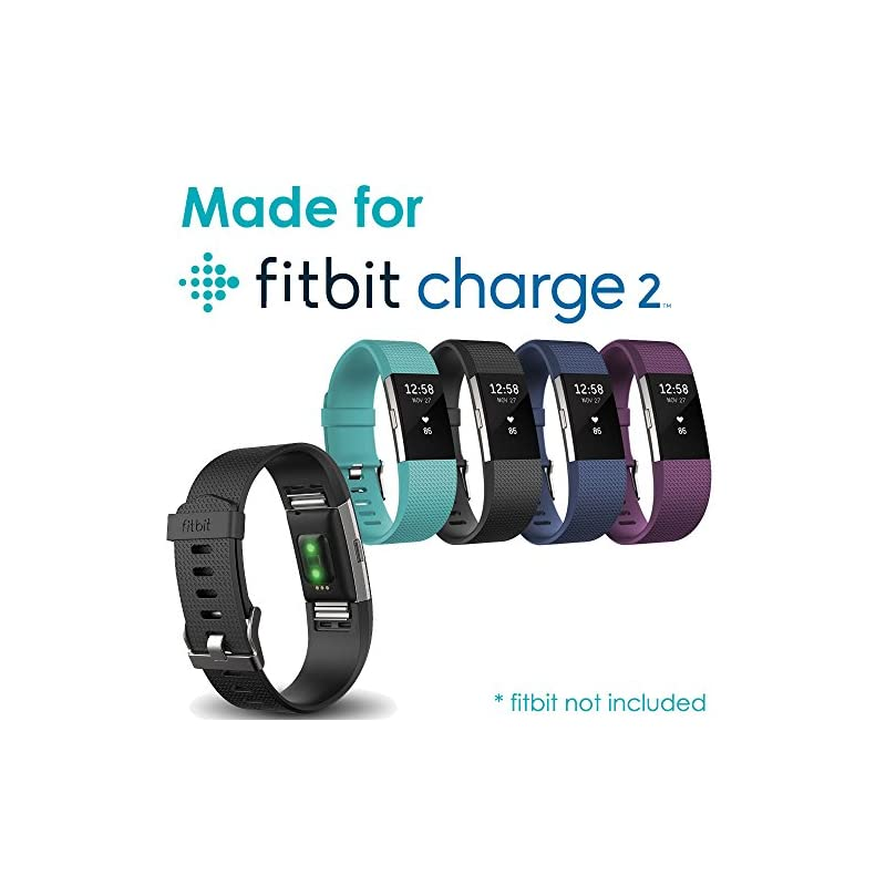 TECHGEAR Replacement USB Charger Cable for Fitbit Charge 2, USB Charging Power Cable Compatible with Fitbit Charge 2, Heart Rate & Fitness Activity Wristband