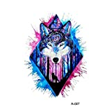 wyuen 5pcs adhesivo de Original diseño de lobo tatuajes temporales falsos hombre mujer...
