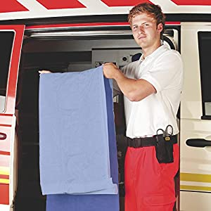 Lifeguard Patientendecke Polyestervlies blau 110 x 190cm 700 gr (16-er Pack)