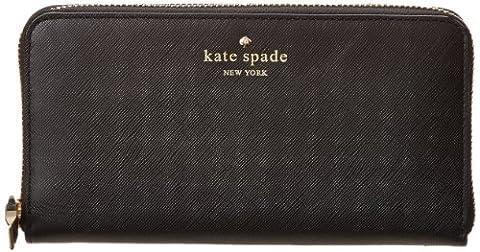 Kate Spade PWRU3438-001 Women's Cherry Lane Lacey Black Leather Wallet