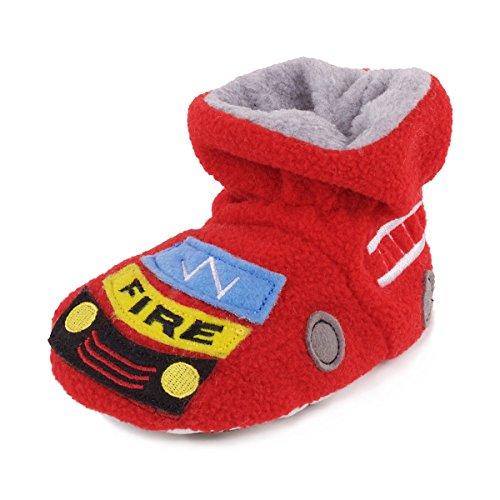 Totes Jungen Hausschuhe Fire Engine