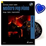 Modern Pop Piano - Songs, Styles, Improvisation - Empfohlen von der Popakademie Baden-Württemberg - Klavierschule [ Klavier Noten mit CD ] mit herzförmiger Notenklammer