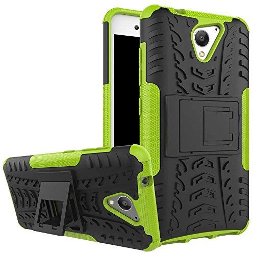 YHUISEN ZTE Blade A510 Case, Hyun Pattern Dual Layer Hybrid Armor Kickstand 2 In 1 Shockproof Case Cover für ZTE Blade A510 5.0 Zoll ( Color : Black ) Green