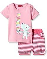 SALT AND PEPPER Baby - Mädchen Bekleidungsset B Set Sweetie Uni Print