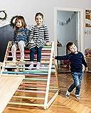 Triángulo de Pikler, Triángulo escalonado, Escalera para niños pequeños, Triángulo de escalada para niños pequeños, Puedes elegir un triángulo sin o con una o dos rampas