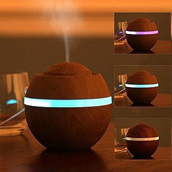 Mini USB Luftbefeuchter 500ml mit Gelben Lichtern f/ür Home Schlafzimmer B/üro Auto Spa Baby DN224 Sekmorpo