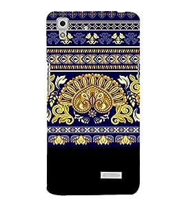 PrintVisa Designer Back Case Cover for Oppo R7 :: Oppo R7 Lite (Accessories Ethnic art silk pattern)