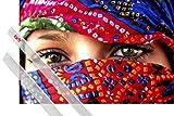 1art1 Poster + Hanger: Frauen Poster (91x61 cm) Arabische Augen Inklusive Ein Paar Posterleisten, Transparent