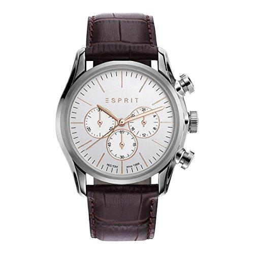 Esprit Mens Chronograph Quartz Watch with Leather Strap ES108801002