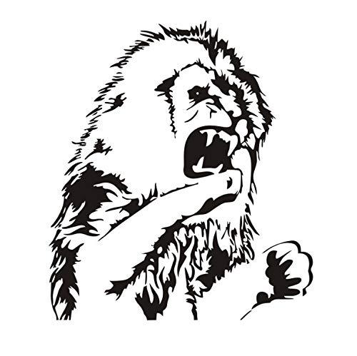 Preisvergleich Produktbild xmydeshoop Riesige Monster Lion African Animal Vinyl Wandaufkleber Afica Lion Kopf Zimmer Wandaufkleber Removable Schlafzimmer Wandverkleidung Home Decor58X66Cm