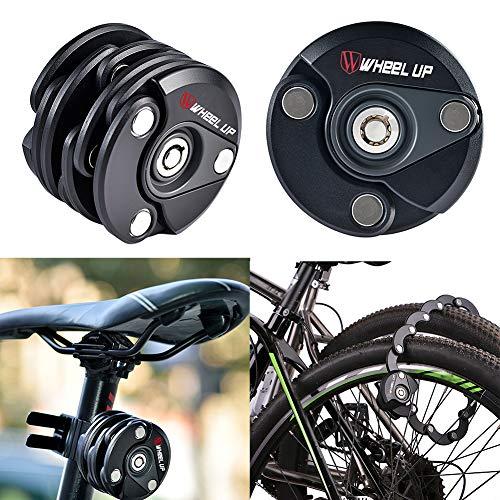 Sguan-wu Zinklegierung Diebstahlsicherung Wheel Up MTB 3-Keys Fahrrad Sicherheit Radfahren Fahrradschloss - Schwarz