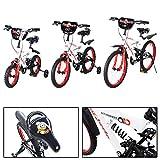Actionbikes Kinderfahrrad Dagoberto ab 3 Jahren 12 16 20 Zoll Rot/Weiß Kinder Mädchen Jungen Fahrrad (12`Zoll)