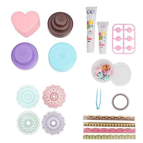 Diy kunststoff wasserlösliche harz bunte kuchen spielzeug mädchen kunst und handwerk küche spielzeug gesetzt -