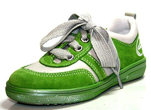 Richter Kinderschuhe , Chaussures de ville à lacets pour fille Gris Gris Gris - Grün (äpfel/weiss