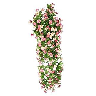 Vid de Flor Margarita Artificial Colgante Decoración para Boda Hogar – Rosa