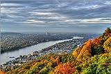 Poster 91 x 61 cm: Blick vom Drachenfels auf Bonn und