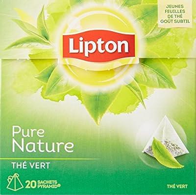Lipton Thé Vert Nature 20 Sachets 30g - Lot de 3