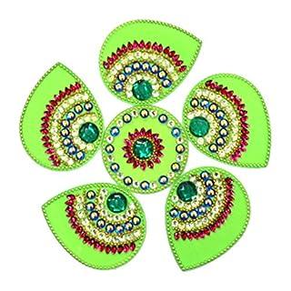 AMBA HANDICRAFT Rangoli / Wohnkultur / Diwali / Geschenk für Haus / Innenraum handgefertigte / Bodenaufkleber / Wandaufkleber / Wanddekoration / Bodendekoration / Neujahr Geschenk / Party.RANGOLI 085