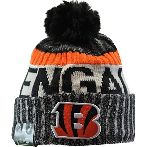 Cincinnati Bengals New Era 2017 NFL Sideline On Field Sport Knit Hat Hut - Black