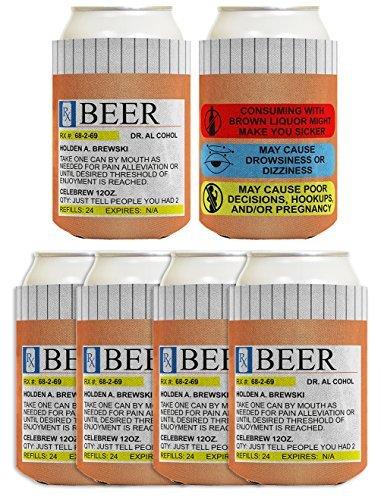 Funny können Coolie Sehstärke Gag Geschenk RX Pille Flasche Geschenk Coolies Multi Pack können Trinken Kühler Coolies mehrfarbig -